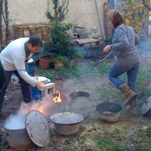 stage raku poterie, céramique