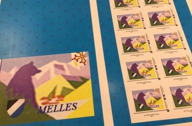 Le timbre-poste de Melles (31440)