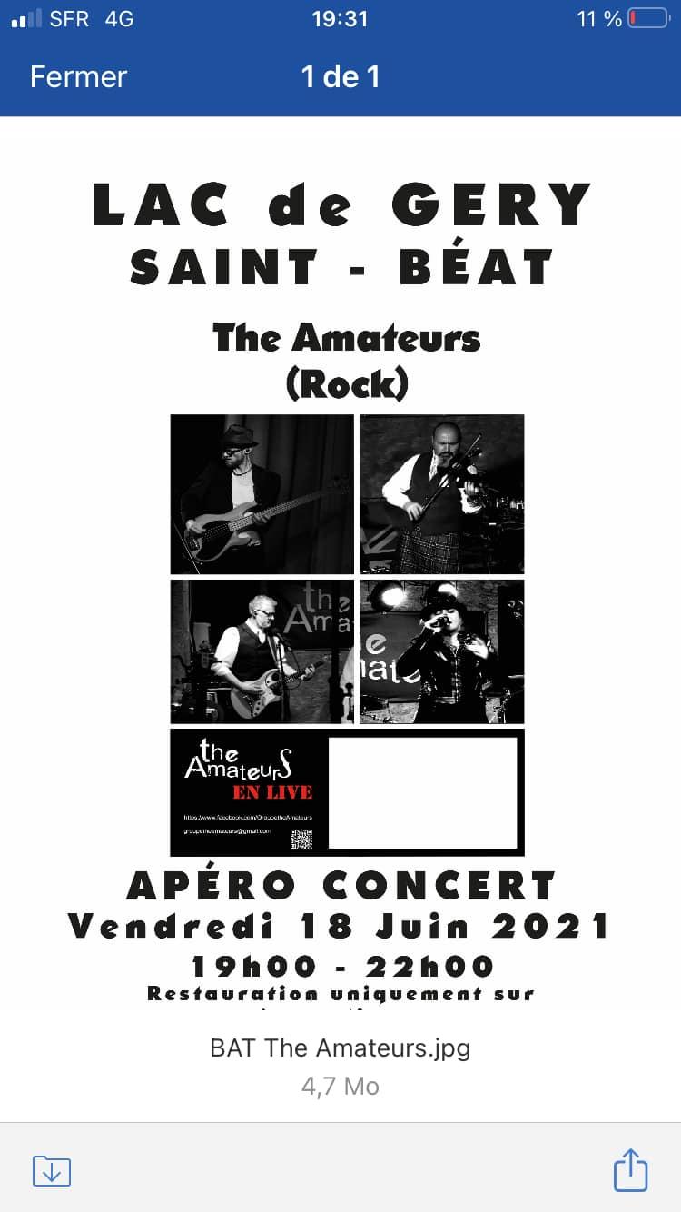 The amateurs apéro concert Lac de Géry