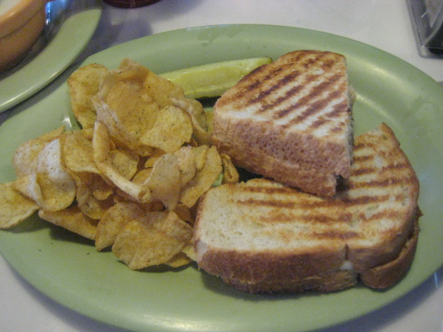 McAlister's Deli | San Antonio, Texas | Basil Parmesan Chicken Panini with Kettle Jalapeno Chips