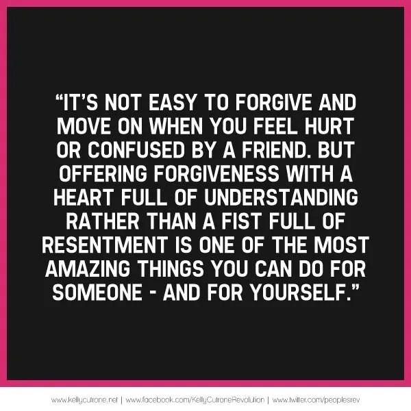 Forgive and Understand Friends Who Hurt You