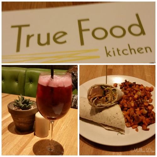 True Food Kitchen   Houston, Texas   Sangria and Tuna Wrap