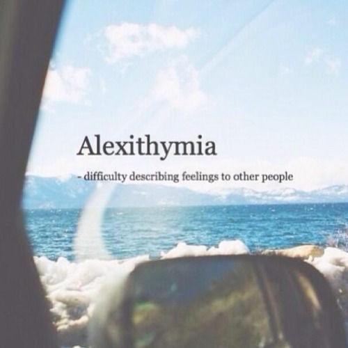 Alexithymia Difficulty Describing Feelings