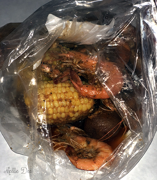 Smashin Crab   San Antonio, Texas   Shrimp Boil with Potatoes, Corn, and Sausages