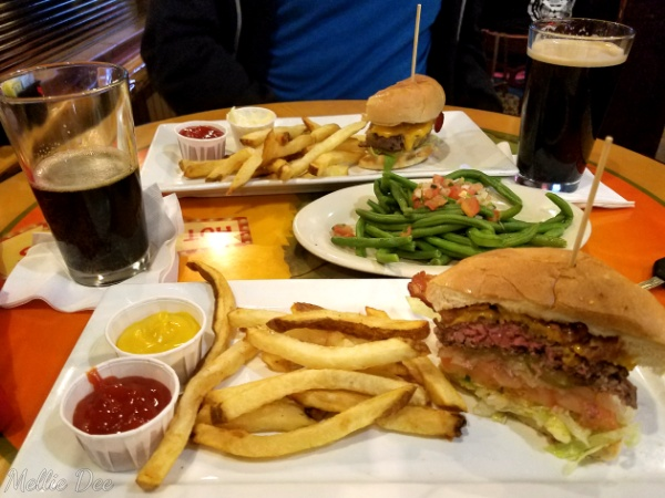 Texas Mesquite Grill | Katy, Texas | Original Burger with a side of Green Beans and Tasty AF Beer