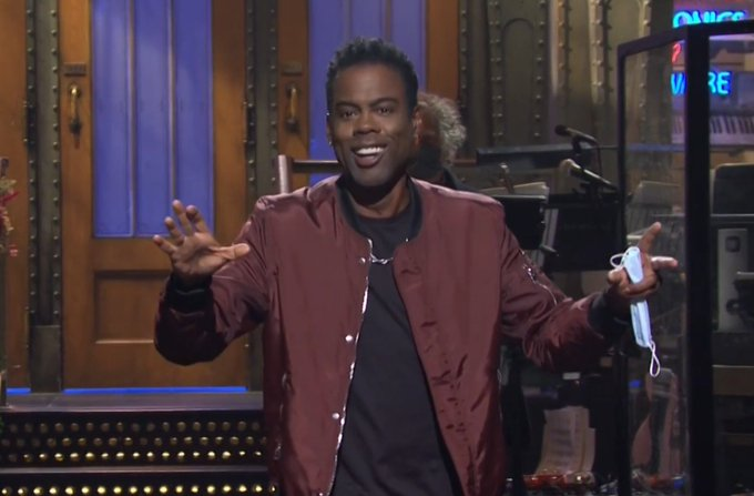 Chris Rock on Saturday Night Live mocks President Trump on his COVID-19 infection