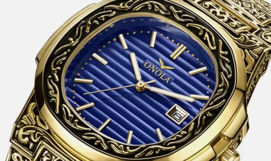 Relojes De Hombre Retro Gold Men's Quartz Waterproof Watches