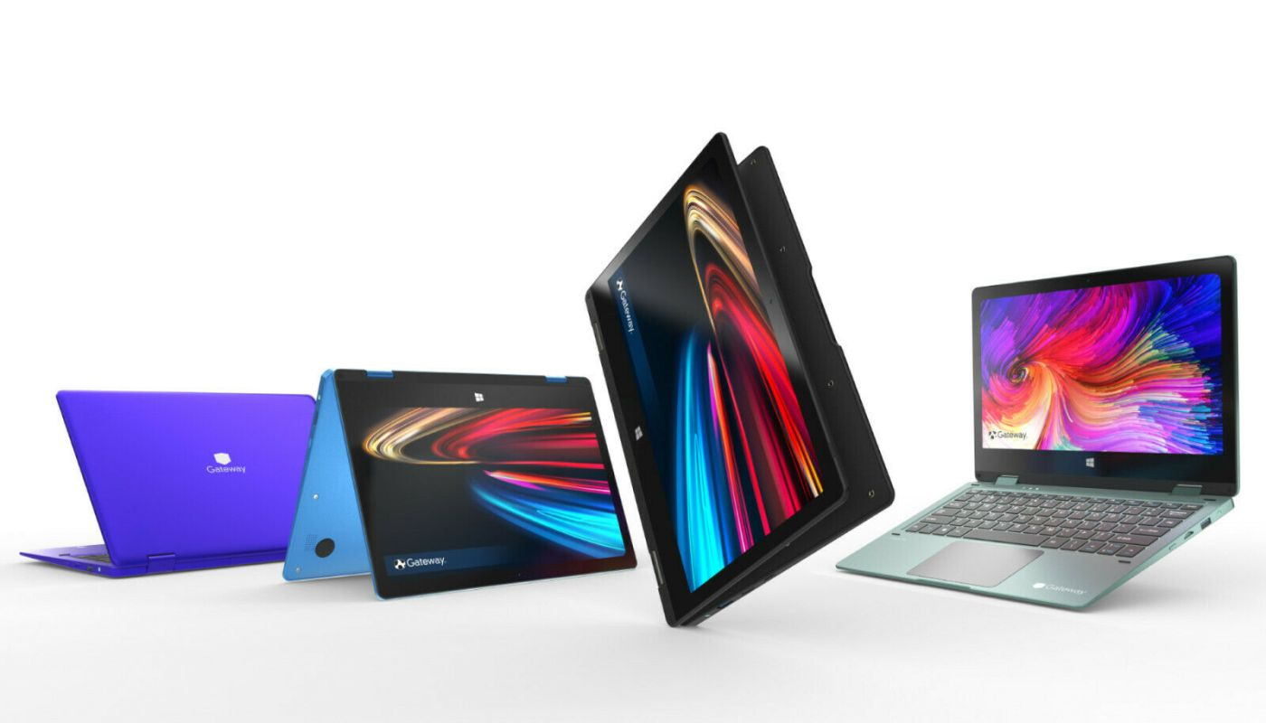 "Gateway 11.6"" FHD 2-in-1 Convertible Notebook, Intel Celeron, 4GB RAM, 64GB"