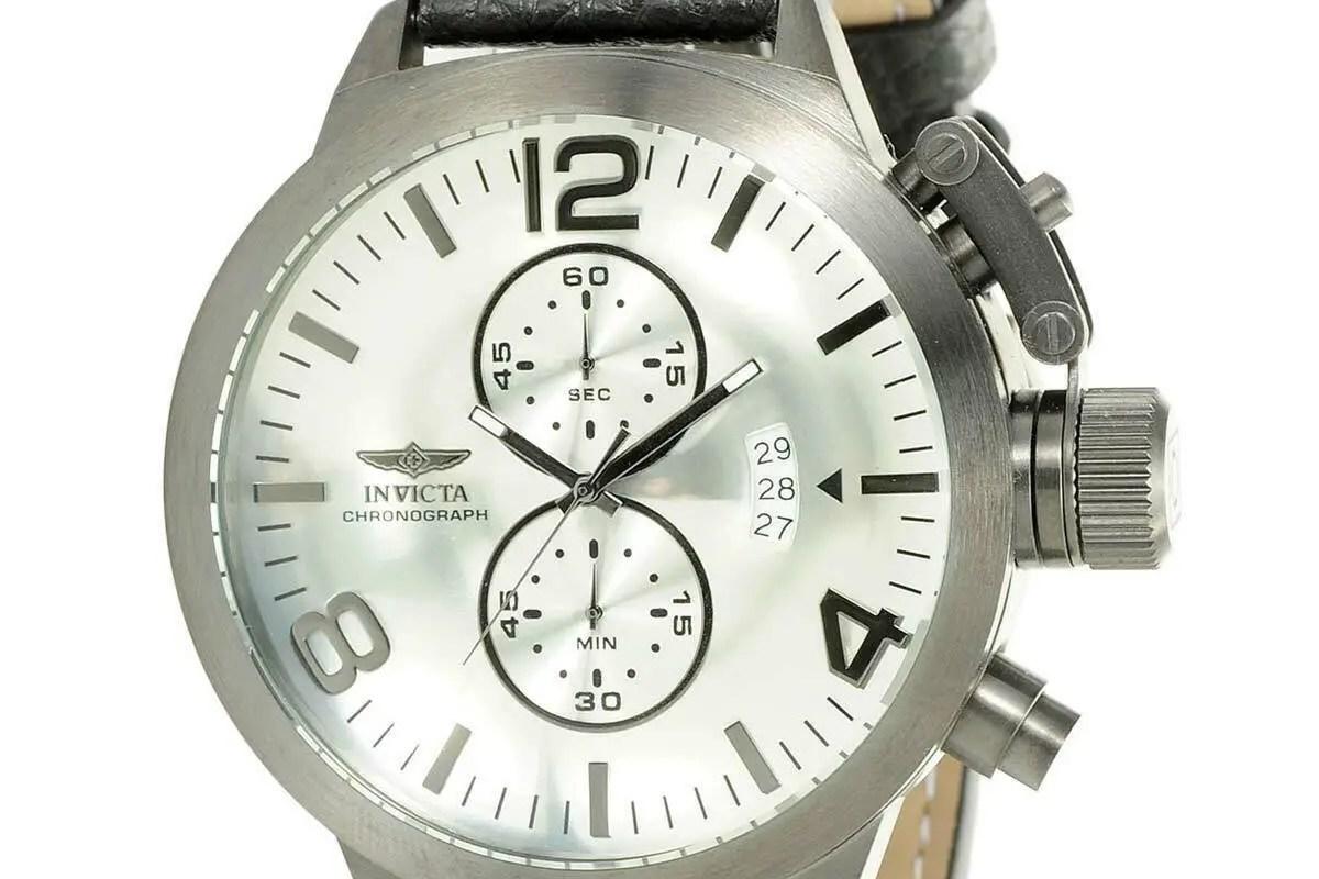 Invicta 23690 Men's Corduba Chrono Silver Dial Black Band Watch