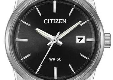 Citizen Women's Quartz Calendar Date Black Dial Silver 27mm Watch EU6000-57E