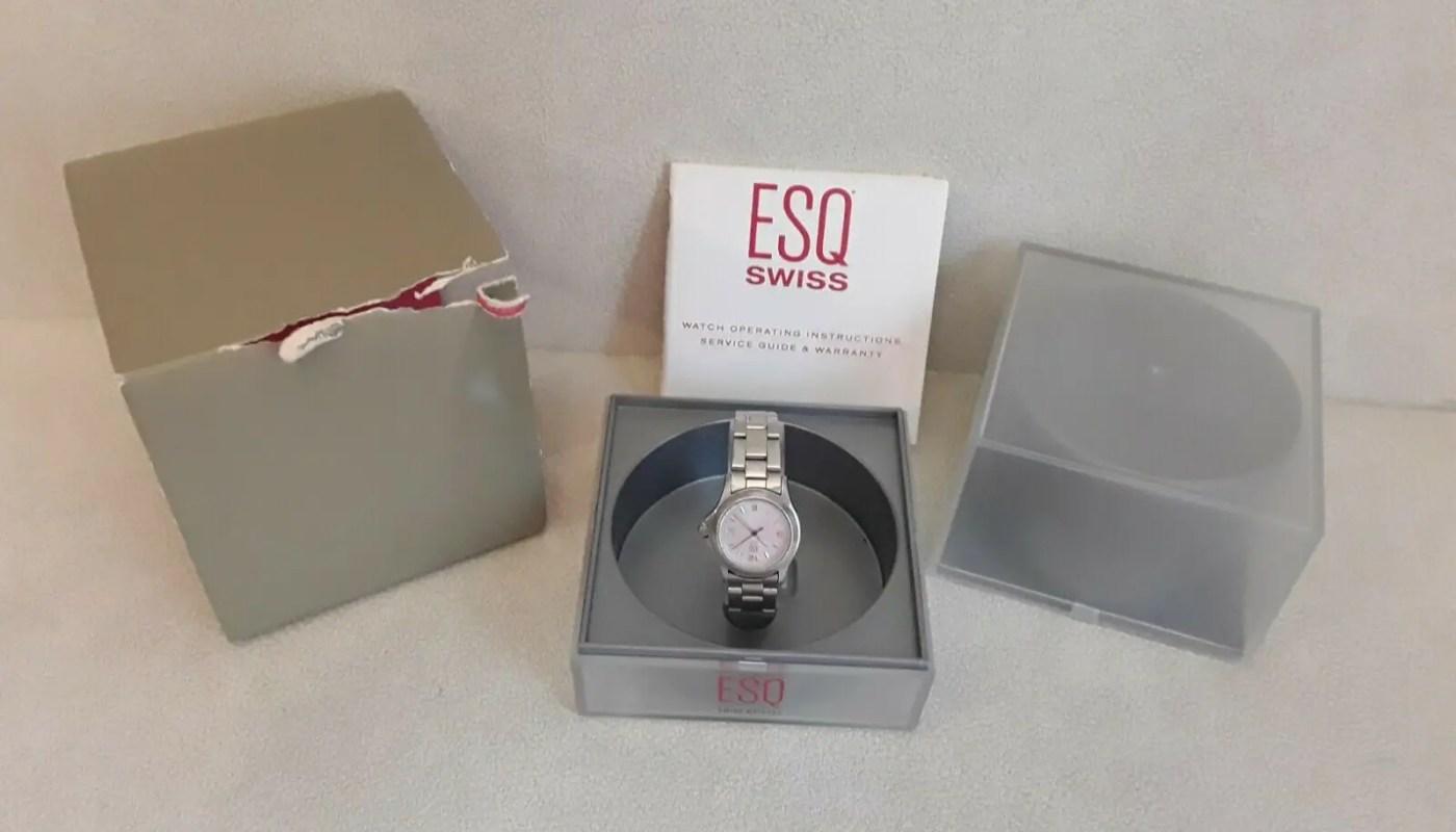 ESQ Swiss Women's Watch With Box needs battery