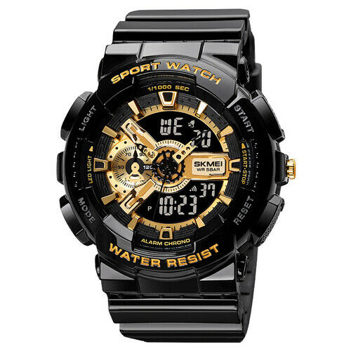 Fashion Military Men's Sport Digital Quartz Analog 50M Waterproof Wrist Watch US
