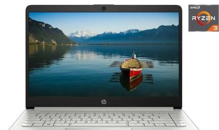 """HP 14"""" HD Laptop AMD Ryzen 3 3.5GHz 128GB SSD 4GB RAM Mic Webcam Windows 10"""