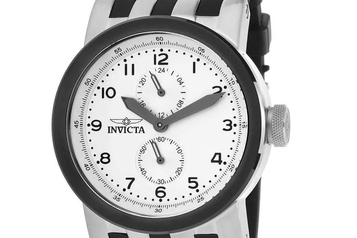 Invicta Men's Watch DNA Silver Tone and Black Case Rubber Strap 31785