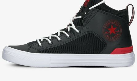 Converse All Star Ultra Mid Men's Athletic Black Red Sneaker Casual Trainer Shoe