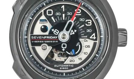 NEW Men's SEVENFRIDAY V3/01 V SERIES Gunmetal Automatic Watch MSRP $1250 SALE!!!