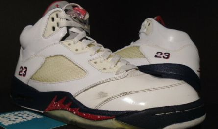 NIKE AIR JORDAN V 5 RETRO OLYMPIC INDEPENDENCE DAY WHITE BLUE RED 136027-103 10