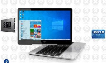 HP Revolve Core i5 TOUCH 8GB RAM SSD Win10 USB3 Office Backlit Laptop