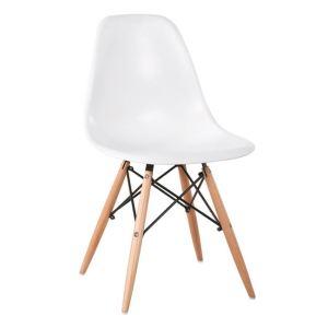 ART Wood καρέκλα Ξύλο/PP Άσπρο