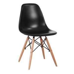 ART Wood καρέκλα Ξύλο/PP Μαύρο