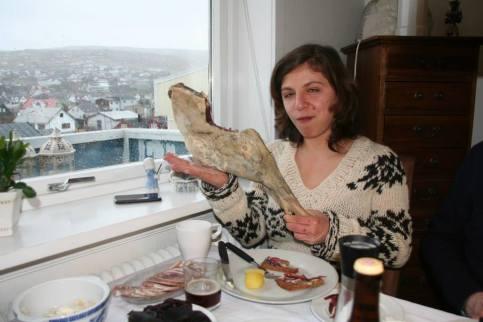 Partage d'un repas Loger en couchsurfing aux Îles Féroé