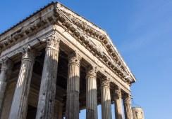 """Temple d'Auguste et Livie ou """"Maison romaine"""""""