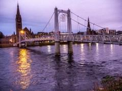 Inverness, Ecosse : Pont piétonnier