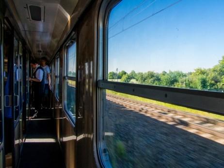 Dans le train pour Malbork