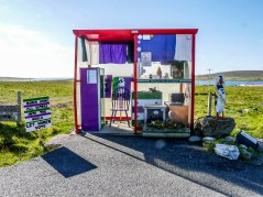ïles Shetland, Unst : Bobby's Bus Shelter