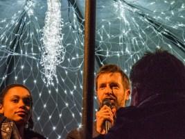 Mons, coeur en neige : inauguration avec le bourgmestre Nicolas Martin
