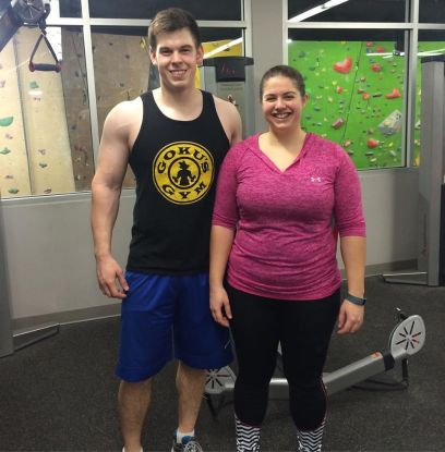 Nicole and Caleb in Feb 2016