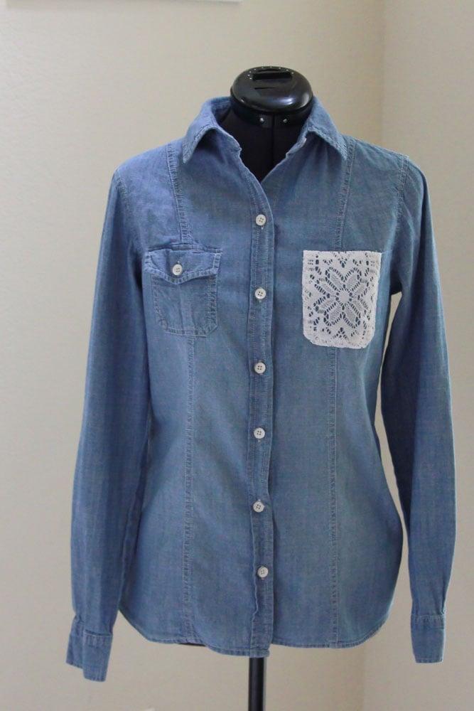 Lace Pocket Shirt