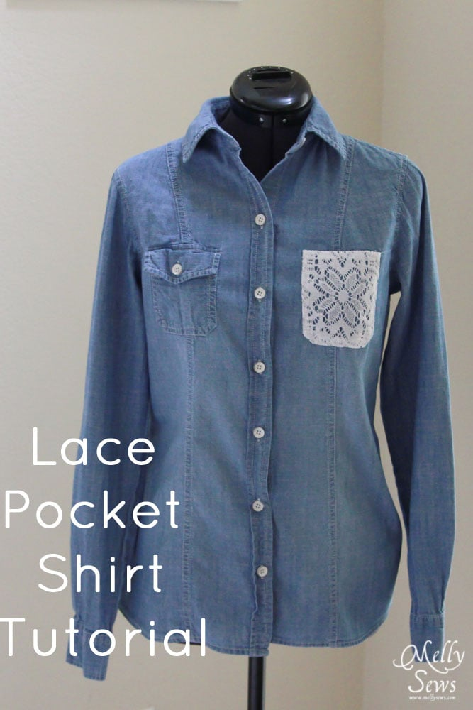 Lace Pocket Shirt Tutorial