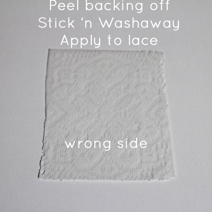 Step 2: Apply Stick 'n Washaway