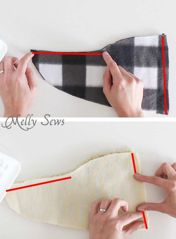 Step 1 - Sew Slippers - a Free Pattern and Video Tutorial to make these DIY Slippers for Men, Women, or Kids - Melly Sews