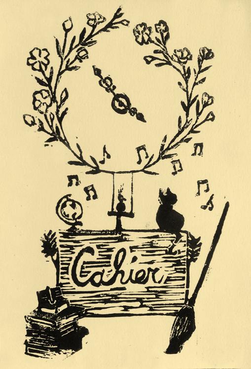 Linogravure chat fleurs et magie, Assilem décors, peintre en décor Bordeaux, décoration intérieure, peintre décoratrice