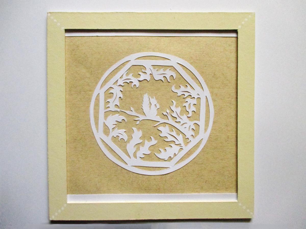 Ecureuil dans les branches en papier découpé, paper art, Assilem décors, peintre en décor Bordeaux, décoration intérieure, peinture décorative
