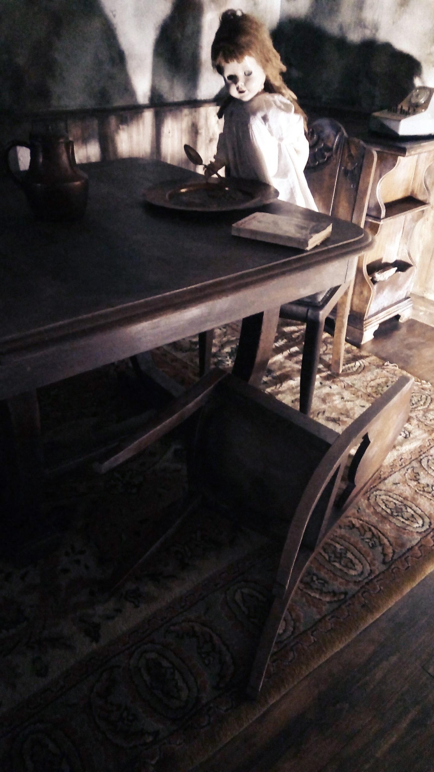 Décors escape game pour donner l'illusion d'une maison abandonnée dans le style des années 1960. Peinture, vieillissement, effets érosion, salissure, rouille, pose des lambris, recherche de mobilier et accessoires.
