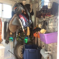 Trailer tack room organization