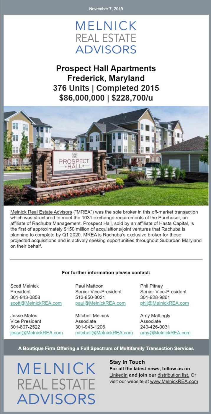 prospect hall apartments | multifamily real estate frederick md