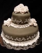 gum paste flower cake