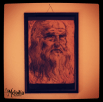 Leonardo Da Vinci, redone with food coloring on fondant