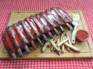bbq ribs cake fondant cookie french fries royal icing