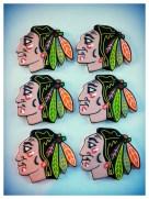 Chicago Blackhawks logo cookies