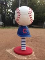 Chicago Cubs baseball hat cake fondant chocolate