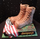 boot camp cake fondant modeling chocolate boots 2