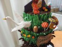 willy wonka cake goose egg mushrooms