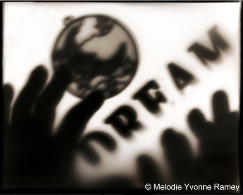 I Dream - Black and White Pictograph