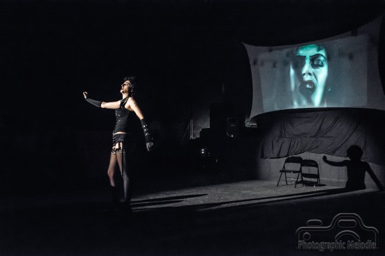 The Rocky Horror Picture Show 8 Year Anniversary Show presented by Transylvanian Lip Treatment at the Irving Theater on July 14, 2018.