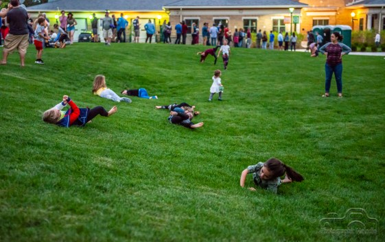 Fans enjoy the Nickel Plate District Amphitheater during Houndmouth with Mt. Joy and Liz Cooper & The Stampede in Fishers on August 24, 2018